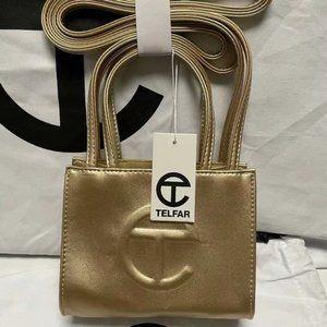 Telfar Small Golden Shopping Bag